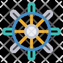Wheel Ship Boat Icon