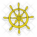 Ship Wheel Steering Ship Wheel Icon