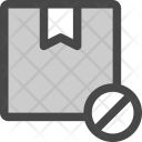 Shipment Package Rejected Icon