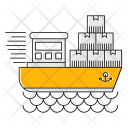 Ship Logistics Transport Icon