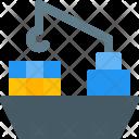 Shipment Cargo Boat Icon