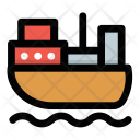 Cargo Ship Freighter Icon