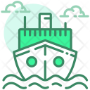 Shipment Container Ship Icon