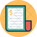 Invoice Bill Receipt Icon