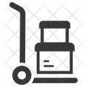 Crate Delivery Hand Truck Icon