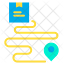 Delivery Route Shipping Route Shipping Way Icon