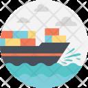Delivery Sea Ship Icon