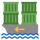 Import Shipping Cargo Container Logistic Icon