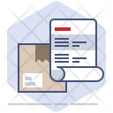 Address Delivery Invoice Icon