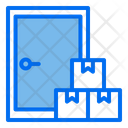 Shipping And Logistic Door To Door Service Door Icon