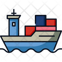 Shipment By Sea Ship Loading Icon
