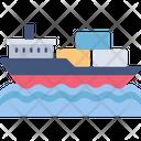 Cargo Boat Cargo Ship Icon