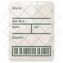 Shipping Label Icon