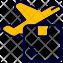 Plane Shipping Box Icon