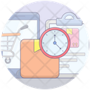 Shipping Time Delivery Schedule Delivery Duration Icon