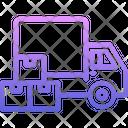 Truck Box Delivery Icon