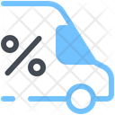 Discount Sale Bus Icon