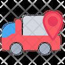 Truck Pin Location Icon