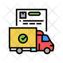 Shipping Truck Logistics Service Truck Delivery Truck Icon