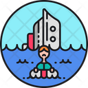 Shipwreck Shipwrecked Sinking Icon