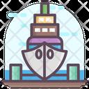 Shipyard Boatyard Dockyard Icon
