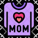 Shirt Shirt Clothe Mom Icon