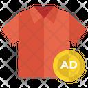 Shirt Advertisement Advertisement Cloth Advertising Icon