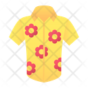 Shirt Hawaiian Clothing Icon