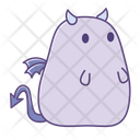 Shock Emotionless Sticker Icon
