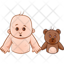 Shock Child And Teddy Icon