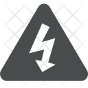 Electric Shock Electic Shock Symbol Arrow Icon