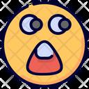 Shocked Surprised Emot Icon