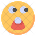 Shocked Surprised Emot Icon