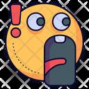 Shocked Shock Head Icon