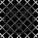 Shocked Emoji Face Icon