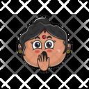 Shocked Aunty Icon