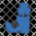Shoe Shamrock Patricksday Icon