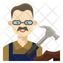 Shoemaker Man Occupation Icon