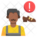Shoemaker Construction And Tools Tape Icon