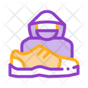 Human Shoplifter Shoes Icon