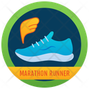 Shoes Banner Sports Badge Badge Icon