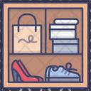 Storage Cabinet Interior Icon