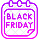 Black Friday Calendar Time And Date Icon