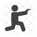 Shooting Sitting Position Icon