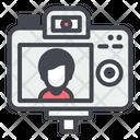 Camera Behind Shooting Icon