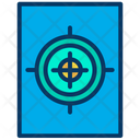 Shooting Board Target Shooting Range Icon