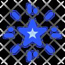 Shooting Star Firecracker Celebration Icon