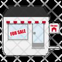 Empty shop for sale Icon