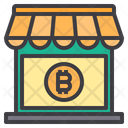 Shopping Money Bitcoin Cryptocurrency Shop Store Icon