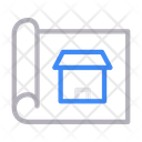 Shop Design Blueprint Icon